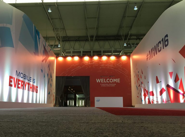 5 branded entrance MWC with large graphics
