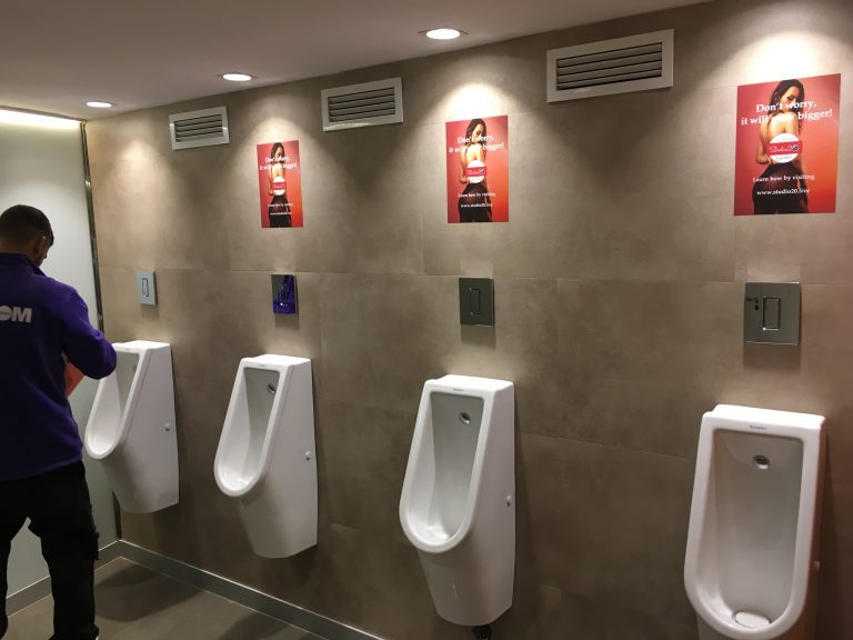 5 toilet advertising for congress sponsor